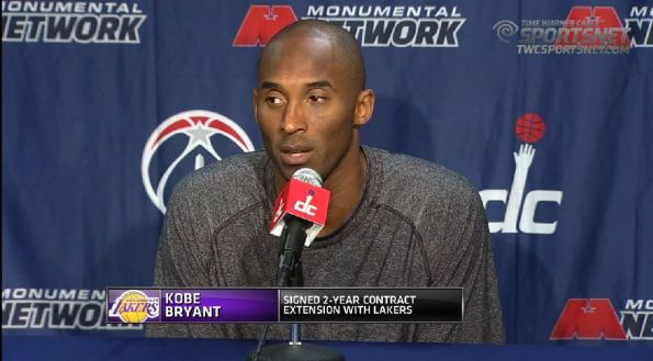 Press Conference: Kobe talks extention with Lakers