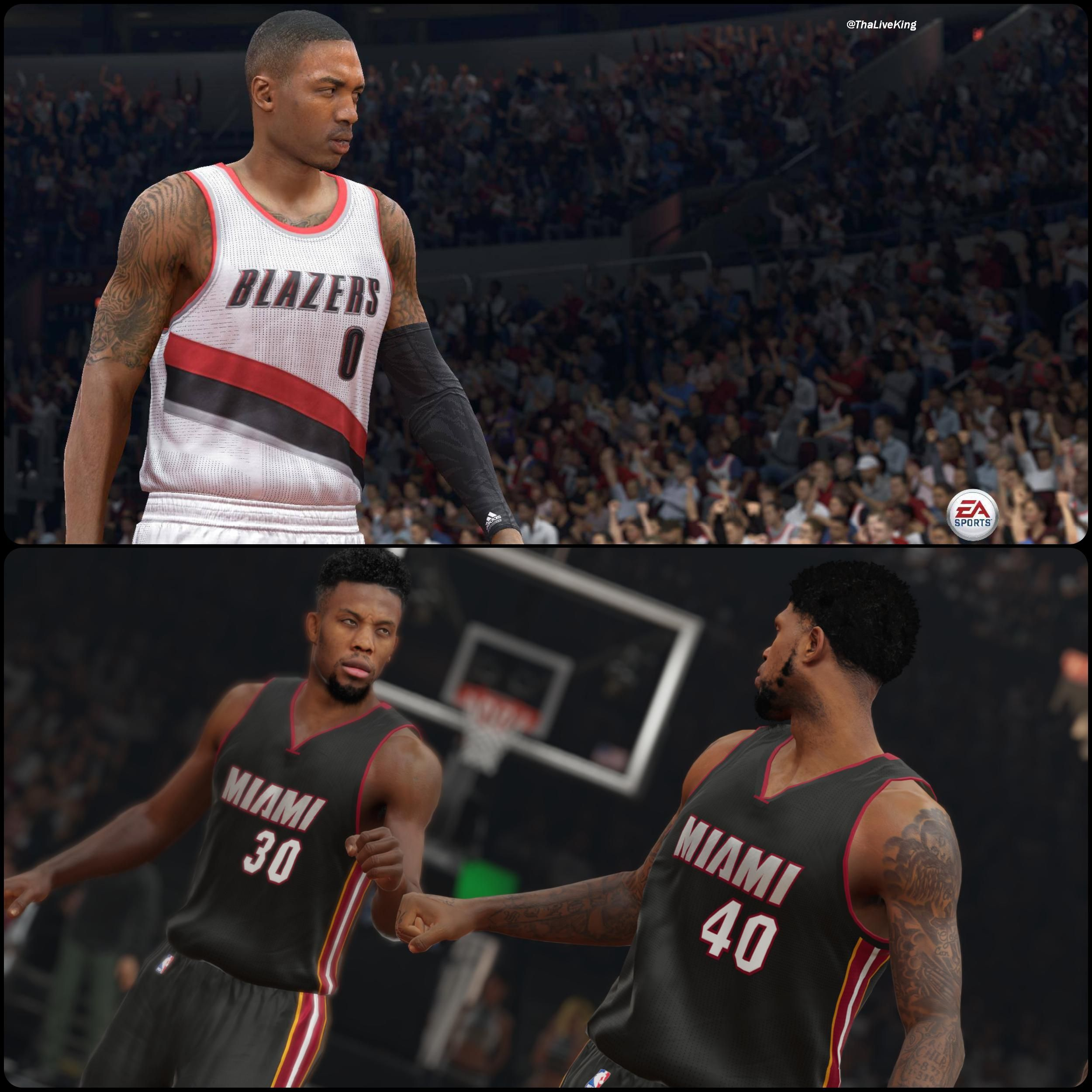 nba live 15 vs nba 2k15 images galleries with a bite. Black Bedroom Furniture Sets. Home Design Ideas