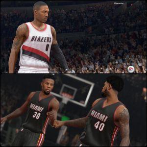 NBA Live Vs 2K15